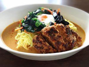 大豆そぼろハンバーグ担々麺風_n